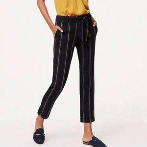🆕 LOFT Striped Tie Waist Crop Trousers Size 4